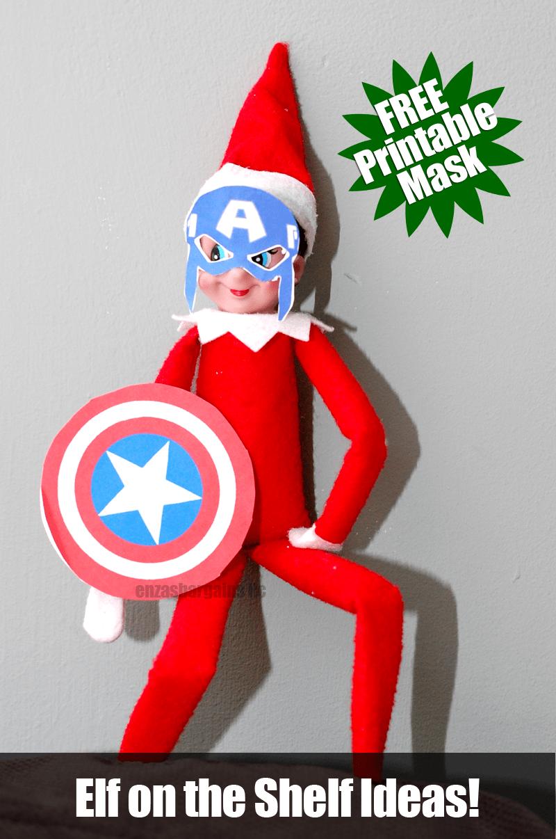 Elf On The Shelf Captain America Mask Free Mask