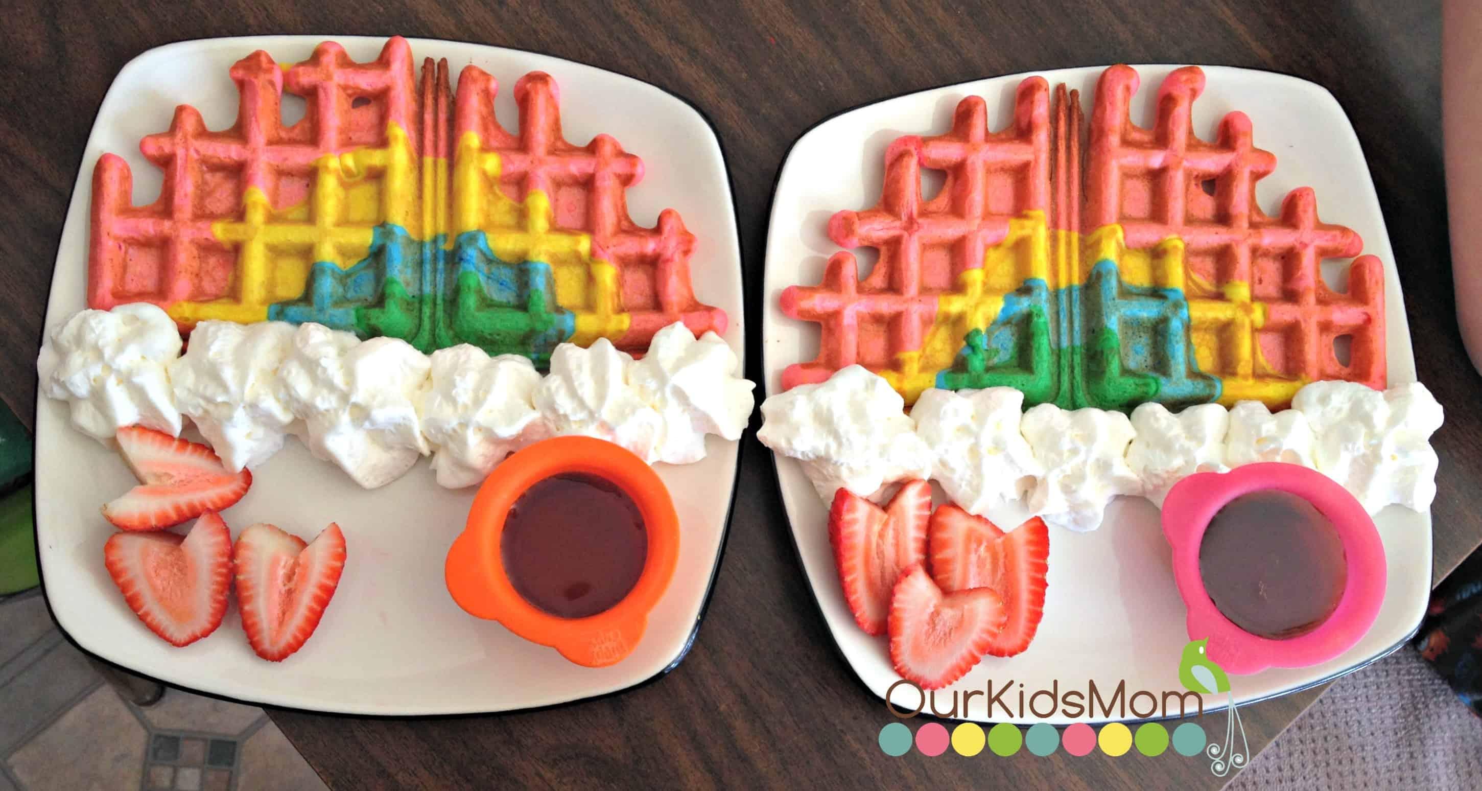 Rainbow Party Ideas - Rainbow Waffles