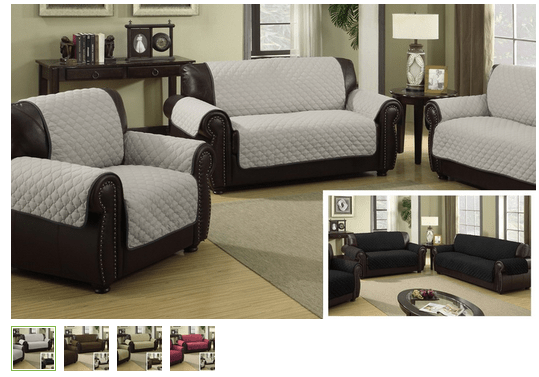 Groupon Waterproof Quilted Reversible Furniture Slipcover