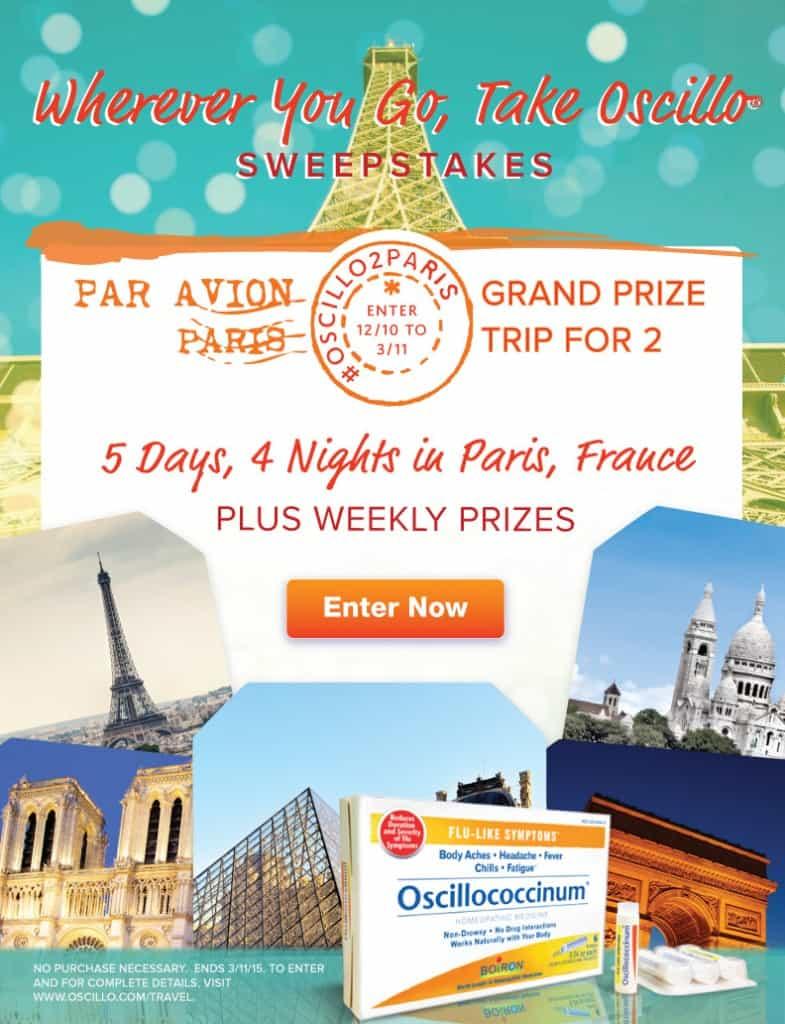 Enter to WIN a TRIP to PARIS