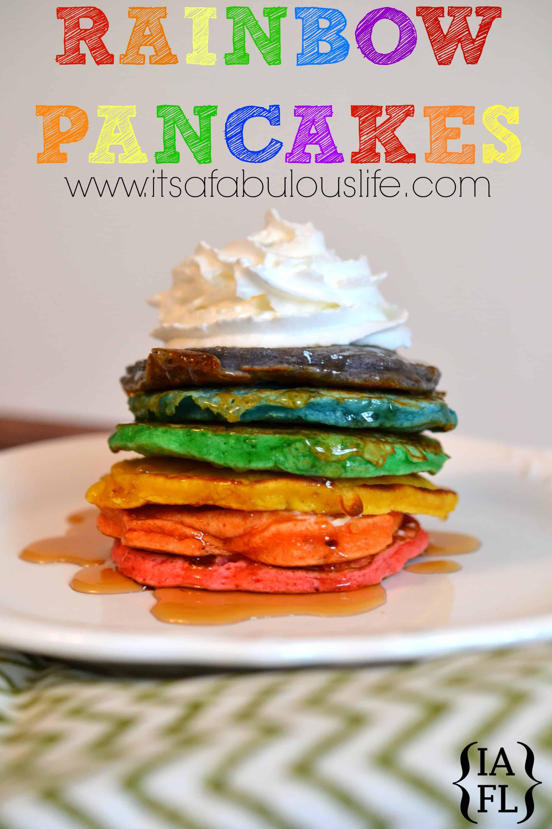 Rainbow Party Ideas - rainbow pancakes