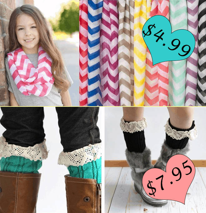 Jane.com Deal Chevron Scarf and Boot accessory