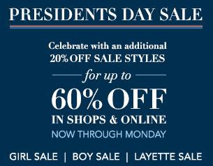 Janie and Jack President's Sale
