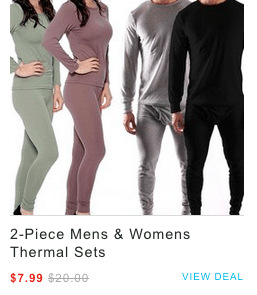 Womens Thermal Sets