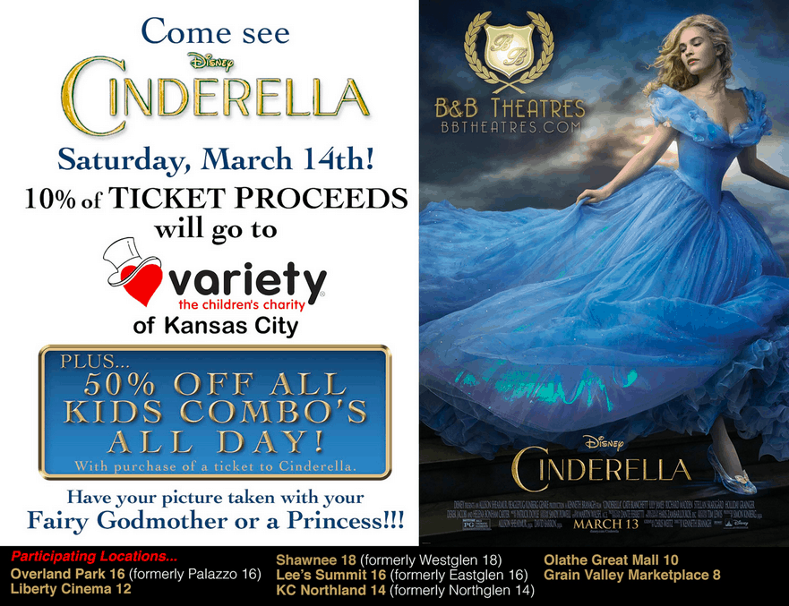 Cinderella B&B Theater Promotions in Kansas City!