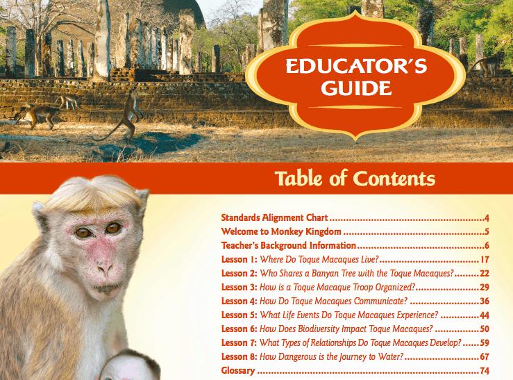 Monkey Kingdom Earth Day Lesson Plans