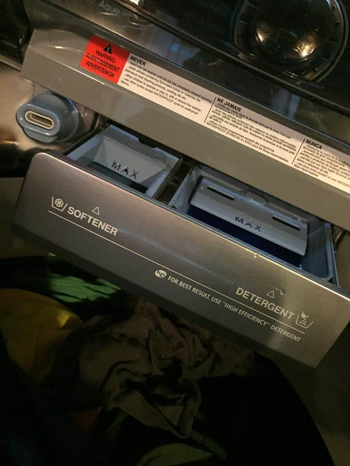 Samsung ActiveWash Washer Review! I can fit 3 baskets of clothes in ONE load! My overflowing hamper all fit in one load!