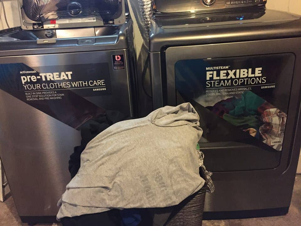 Samsung ActiveWash Washer Review: The full load...that was ONLY one load! It all fit!!
