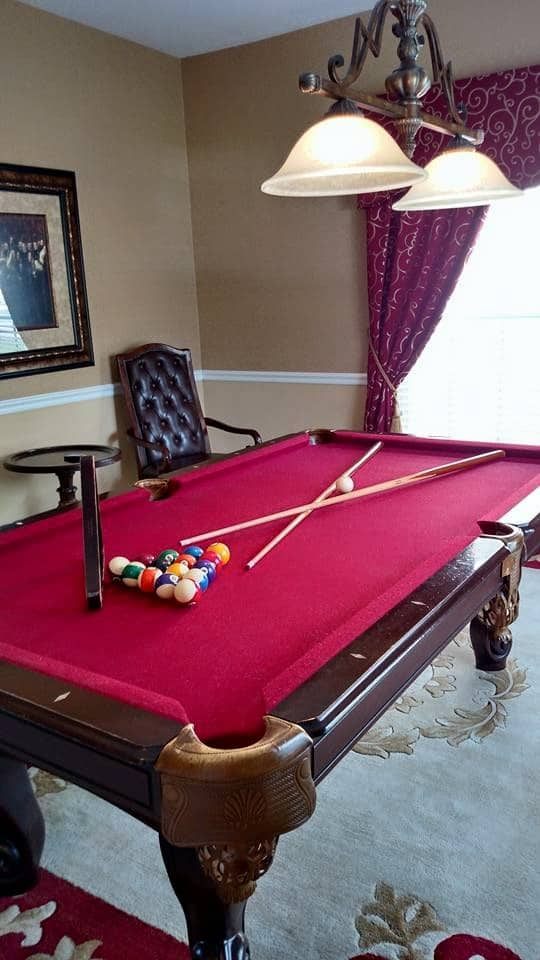 We had a pool table, a theater room (with a game system), a private pool, and a hot tub!