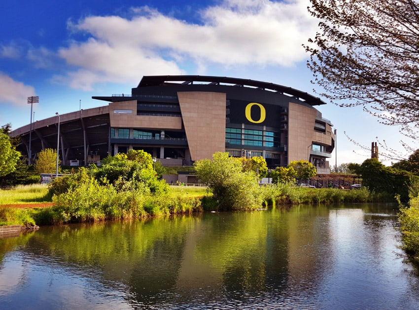 Autzen Stadium at the University of Oregon. Eugene, Oregon