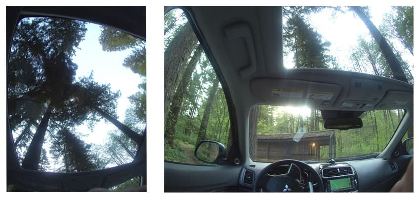 Interior shots of the Mitsubishi Outlander Sport.