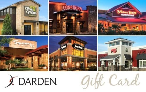 50 Darden Gift Card For Only 40 Red Lobster Olive Garden Long Horn