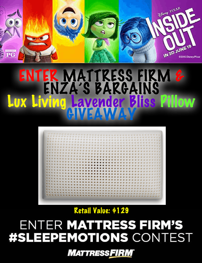 Lavender Pillow from Mattress Firm – WIN a Lux Living Lavender Bliss Pillow