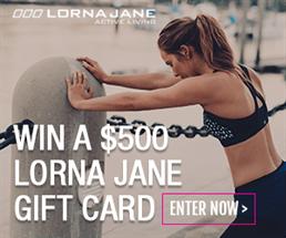 Lorna Jane $500 Gift Card Giveaway