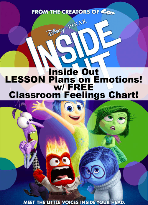 Inside Out Lesson Plans & Classroom Feelings Chart