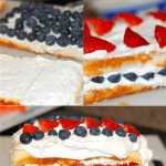 4th of July Dessert - Red White & Blue Cake!