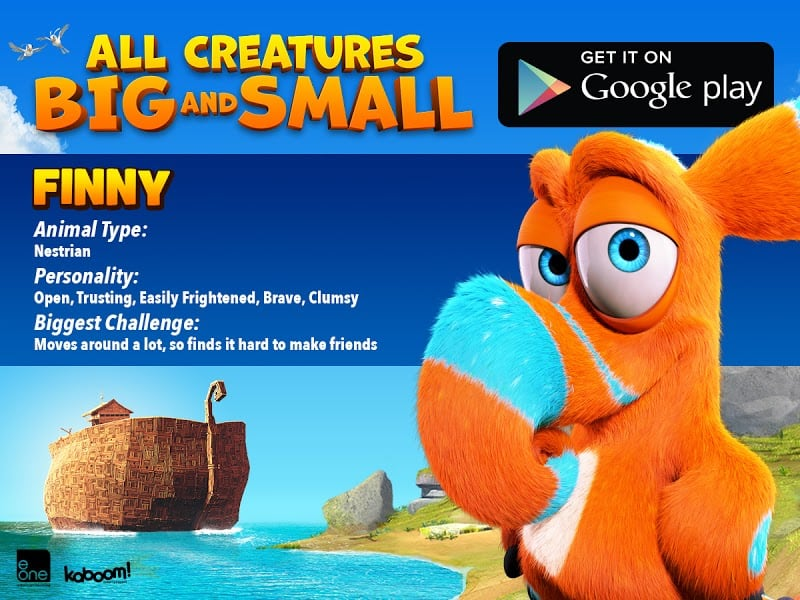 FINNY - All Creatures Big and Small MOVIE - FREE AND FREE Coloring SHEET