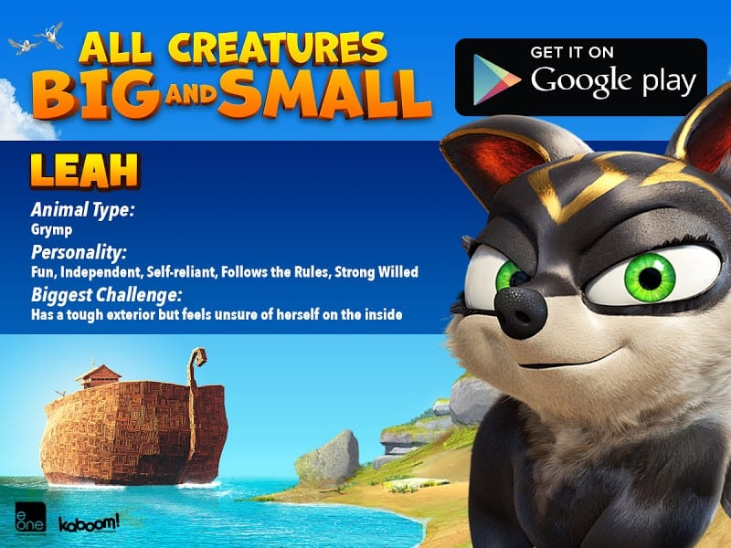 LEAH All Creatures Big and Small MOVIE - FREE AND FREE Coloring SHEET