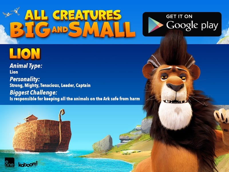 LION - All Creatures Big and Small MOVIE - FREE AND FREE Coloring SHEET