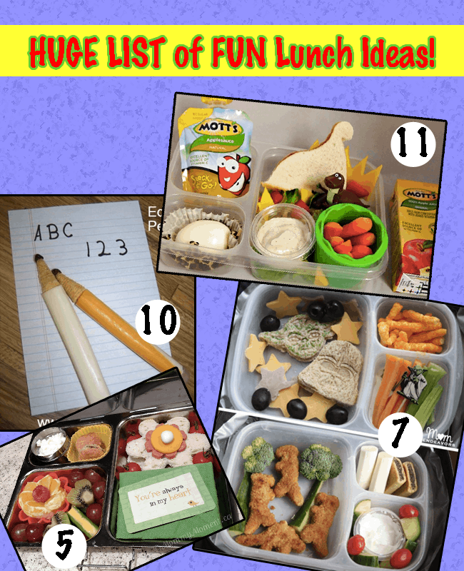 School Lunch Ideas for KIDS - How to be CREATIVE and FUN with lunches!