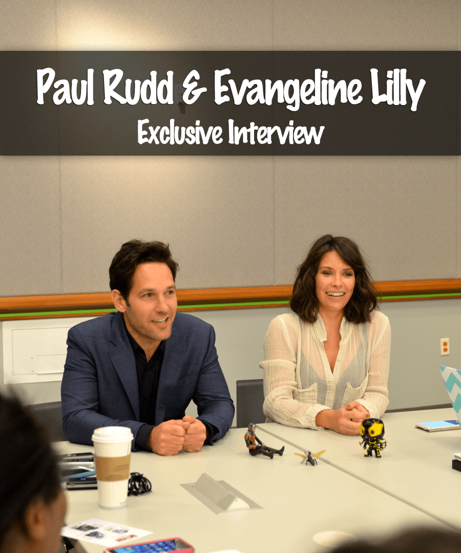 Paul Rudd & Evangeline Lilly Interview – Marvel's Ant-Man Exclusive!