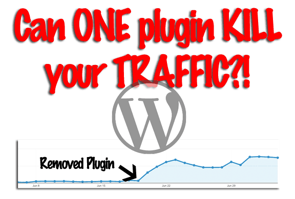 The Plugin KILLED My Traffic!  -- Only time will tell!