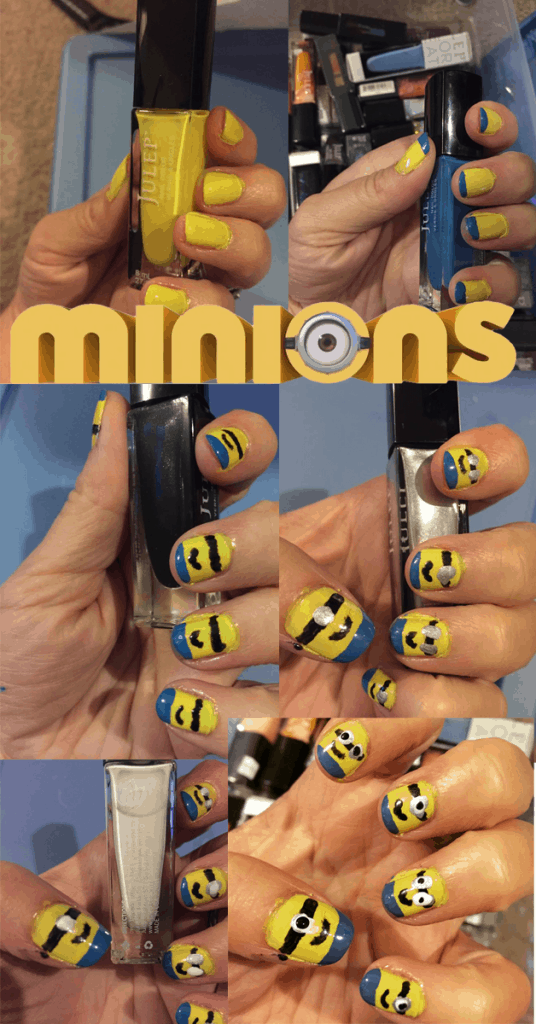 Minion Nails - I am a total amateur! They were pretty EASY!