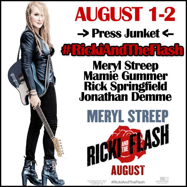 Ricki and the Flash Press Junket - I am headed to New York!