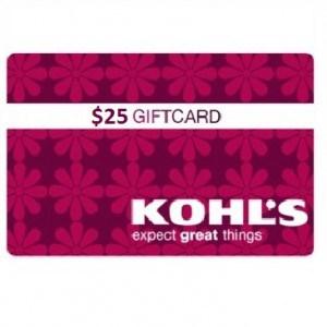 $25 Kohls Gift Card