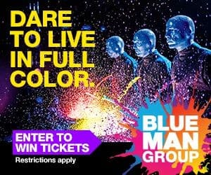 Family 4 Pack of Tickets to see Blue Man Group - Your Choices of Venue (Ends 9/25)
