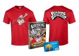 Captain Underpants Book Prize Pack With a $50 Visa Gift Card (Ends 9/20)