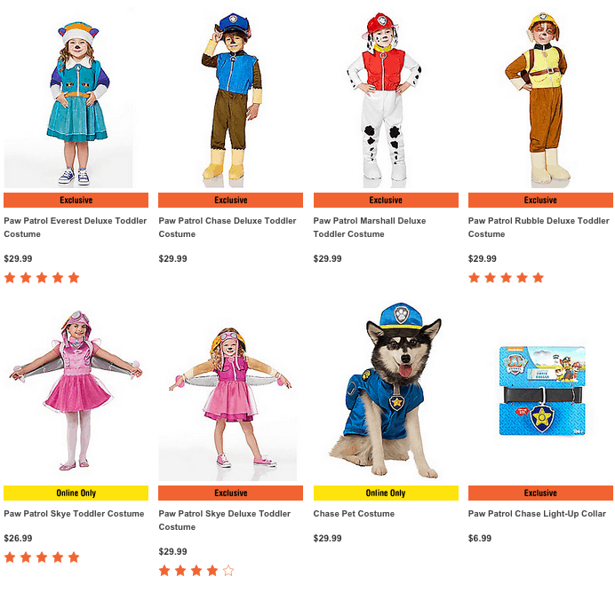 photograph relating to Printable Spirit Halloween Store Coupon named Paw Patrol Halloween Costumes - Exceptional PRINTABLE COUPON!