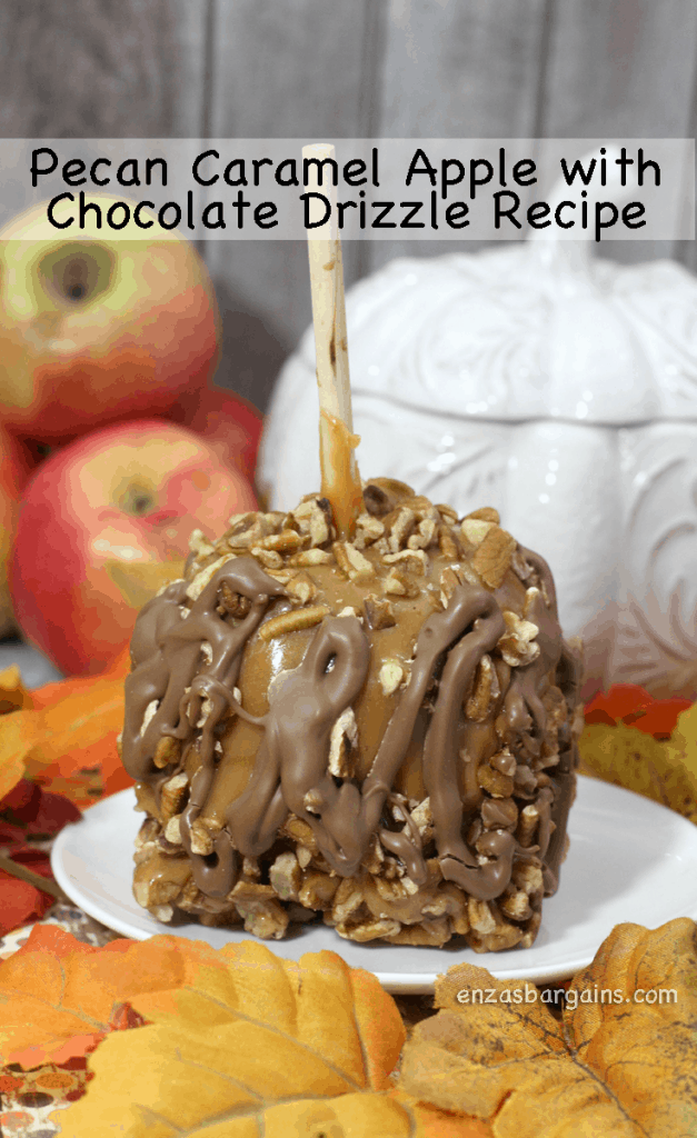 Fall Recipe - Pecan Caramel Apple w/Chocolate Drizzle