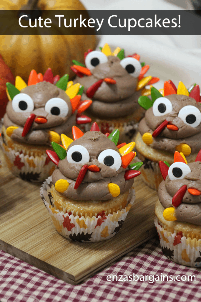 Cute Turkey Cupcakes Recipe