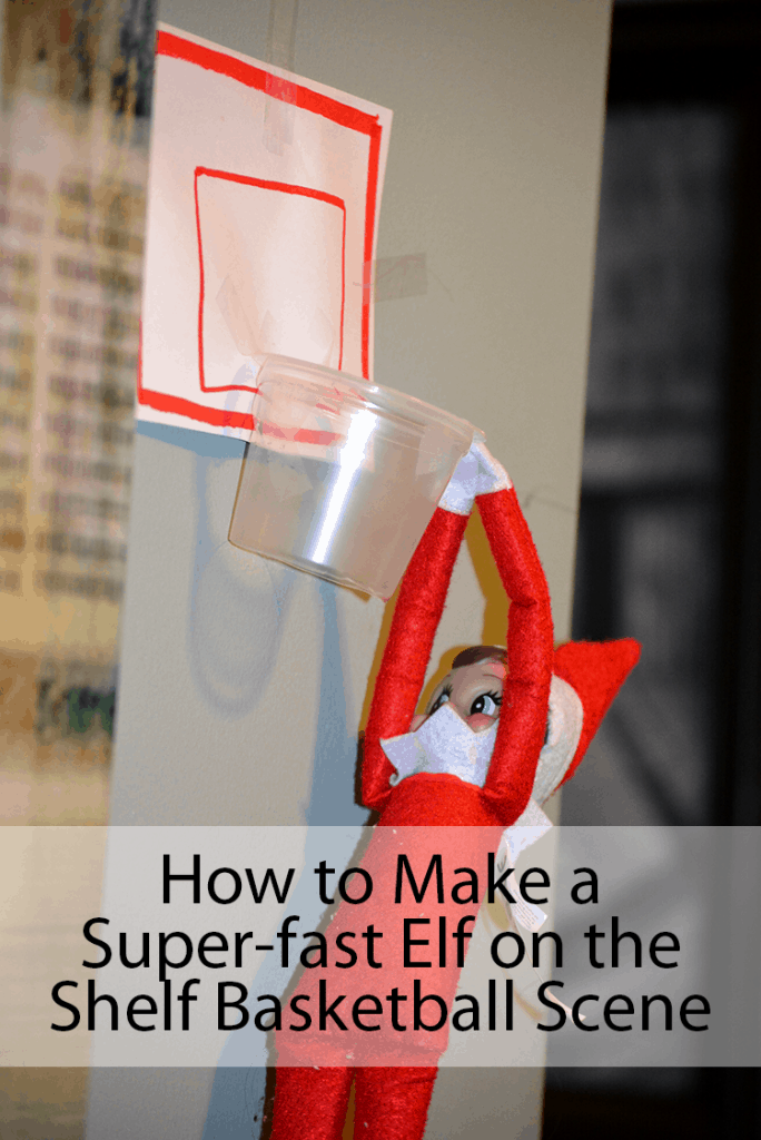 Basketball Elf on the Shelf with Pudding Cup Crafts