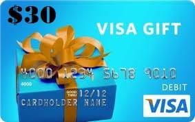 $30 Visa Gift Card (Ends 11/3)
