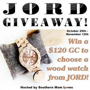 Giveaway: $120 Gift Certificate + Free Shipping to JORD Wood Watches (Ends 11/12)