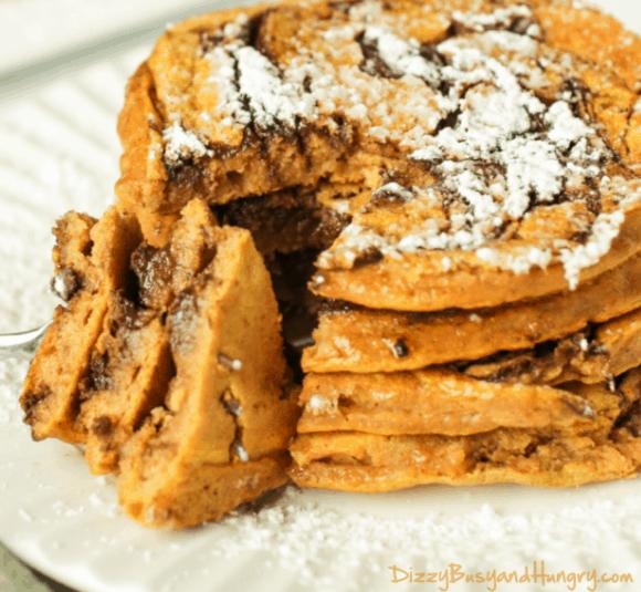 Pumpkin Chocolate Swirl Pancakes