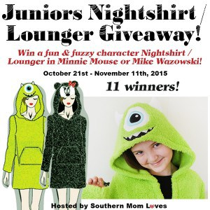 Giveaway: Disney Plush Hooded Nightshirt/Lounger 11 winners! ARV $352 (Ends 11/11)