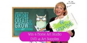 Kids Home Art Studio DVD And Art Set (Ends 11/19)
