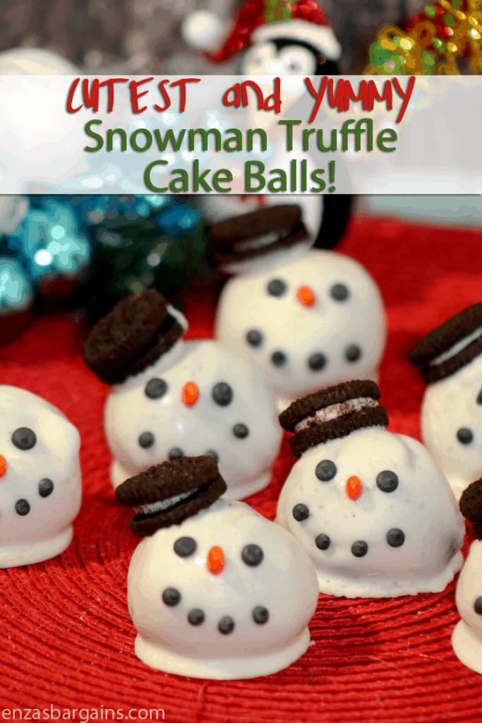 Snowman Truffle Cake Balls Recipe