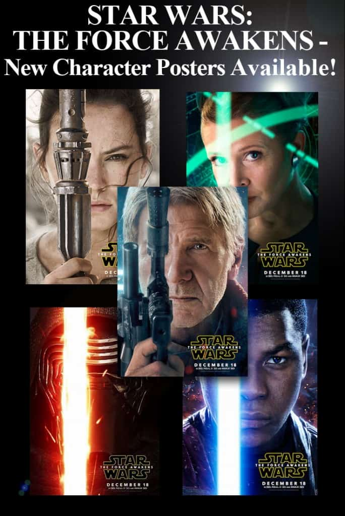Star Wars: The Force Awakens Movie Character Posters