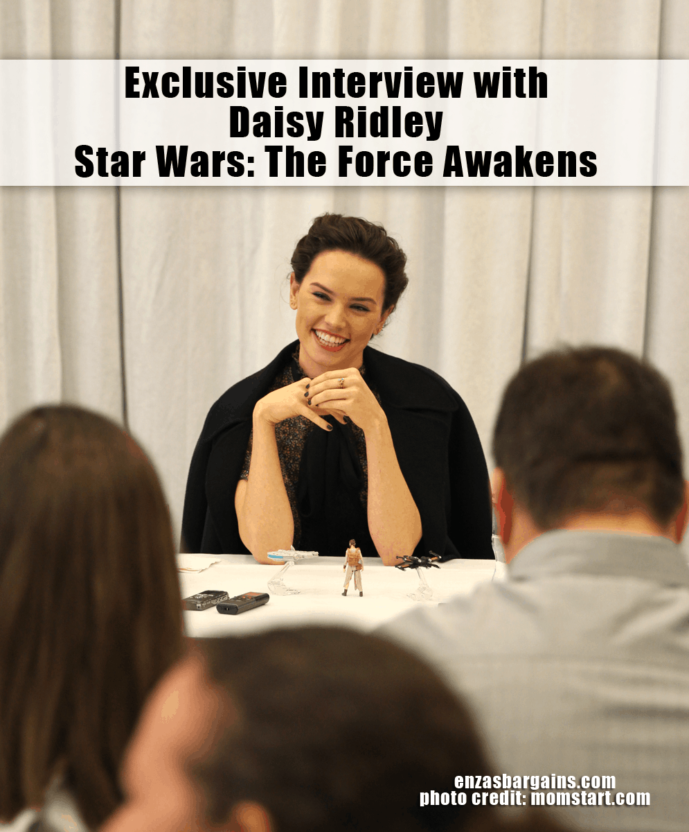 Star Wars Daisy Ridley Interview - Reveals About Rey!