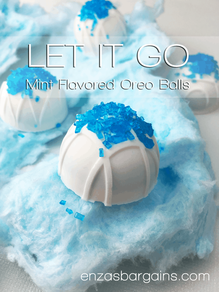 Mint Oreo Balls Covered in White Chocolate Perfect For Frozen!
