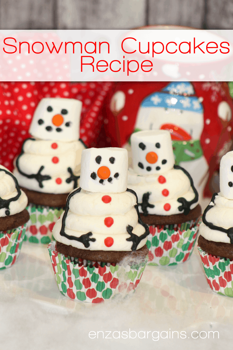 Snowman Cupcake Recipe - Winter Wonderland for your BELLY!