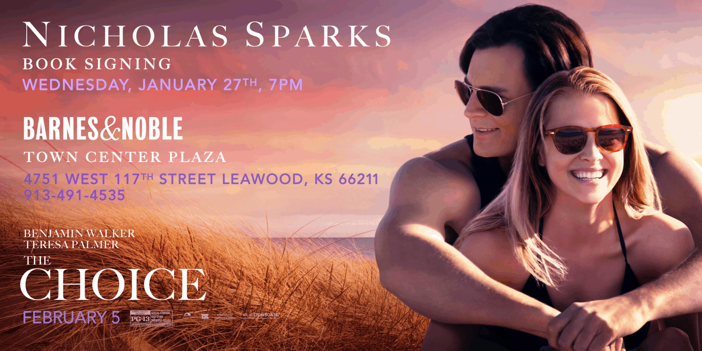 Nicholas Sparks Kansas City Book Signing – The Choice