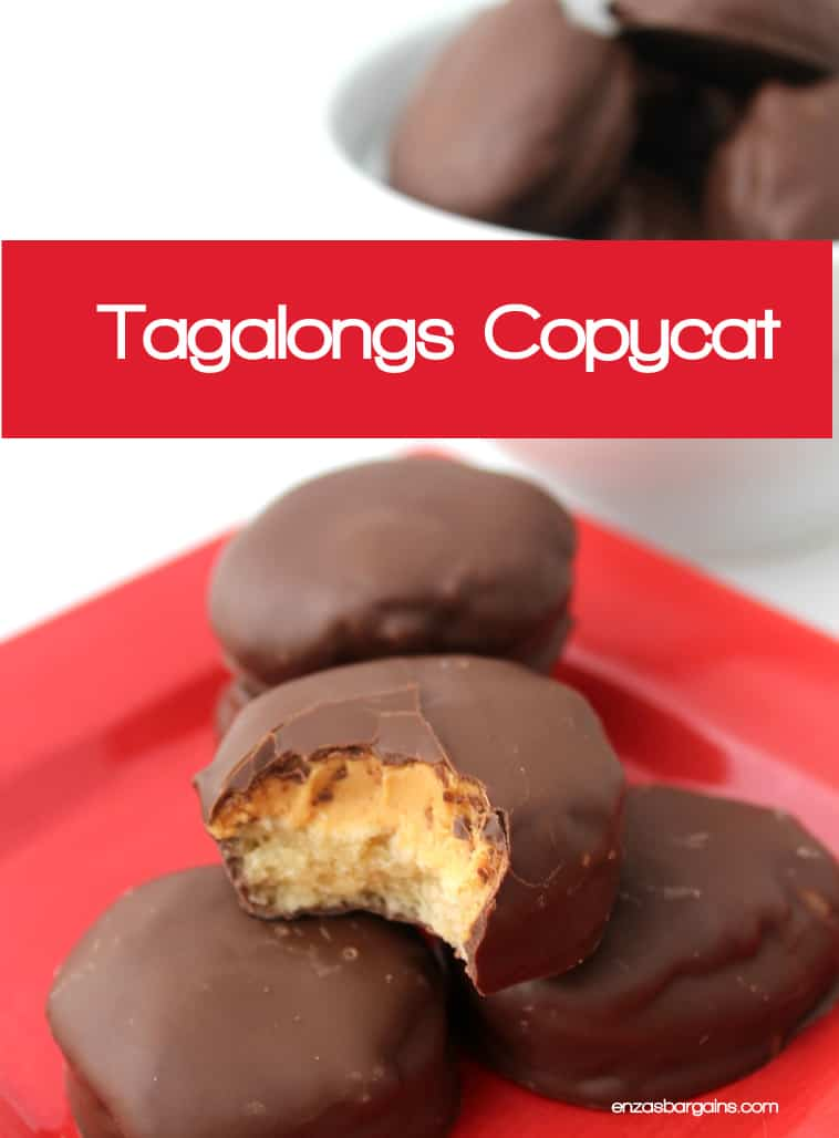 This Tagalongs Copycat recipe will help when the soon to be delivered Girl Scout cookies run out and you're left to find other ways to cure your cravings...