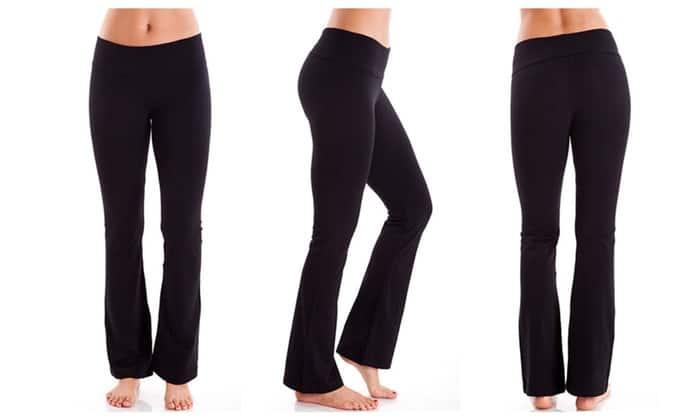Cute Yoga Pants - Foldover Waistband