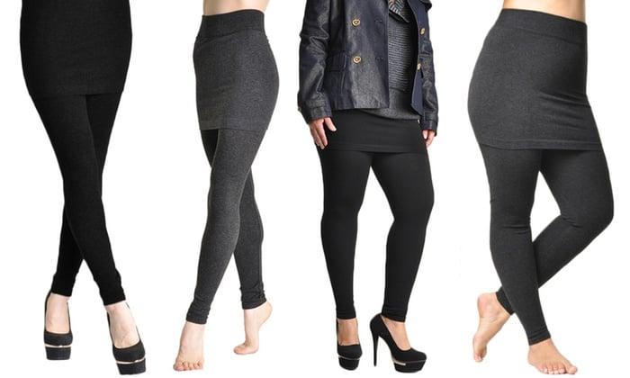 Cute Yoga Pants - Skirted Yoga Pants