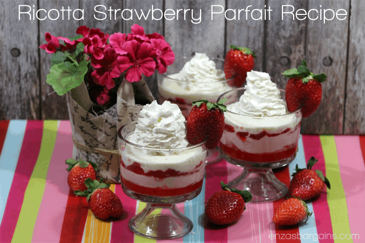 Ricotta Strawberry Parfait with Red Velvet Cookie Base Recipe
